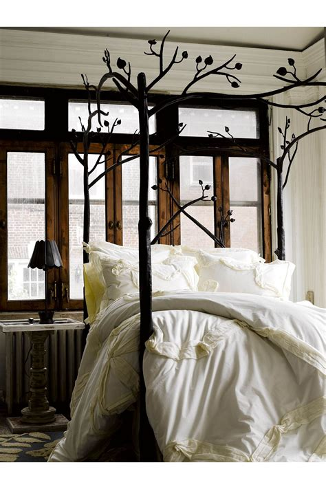 anthropologie home decor tree branch bed white bedding bedroom anthropologie free