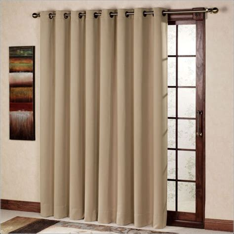patio door curtain rod without center support curtain