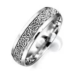platinum wedding rings celtic patterned platinum wedding ring wedding dress from the platinum ring company hitched co uk