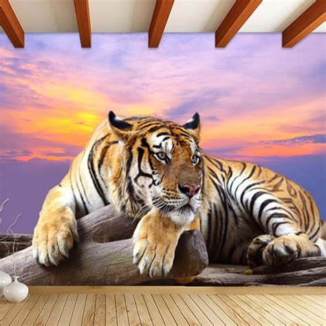 buy custom photo wallpaper tiger animal