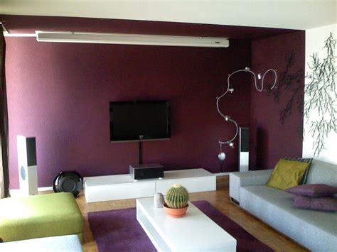 chambre aubergine salon peinture gris galet