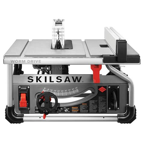 lowes portable table saw shop skilsaw 15 amp 10 in carbide tipped worm drive