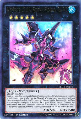 Honors Desk Number by Number C101 Silent Honor Yu Gi Oh It S Time To