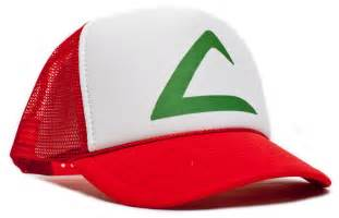 Pokemon Printed Curved Ash Ketchum Unisex-adult Trucker Hat -One-size Redl/white