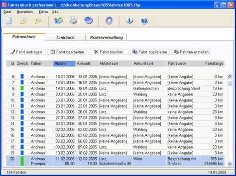 fahrtenbuch professionell bei freeware downloadcom