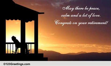 peace calm  love  retirement ecards greeting