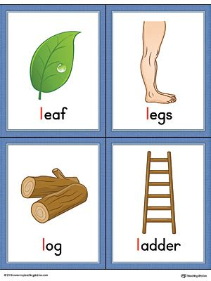 l words and pictures printable cards leaf legs letter l words and pictures printable cards leaf legs