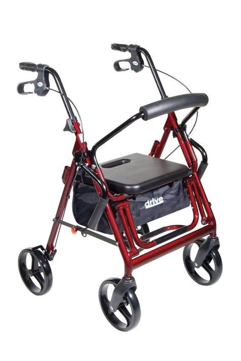 drive duet transport wheelchair rollator walker