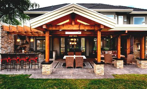 gorgeous pool house with outdoor kitchen plans goodhomez com
