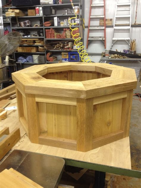 octagon planter outdoor planter   cedar