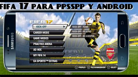 nuevo fifa 17 para psp ppsspp android mod 2014