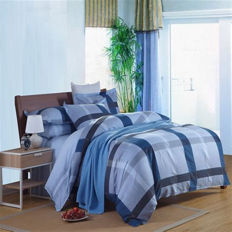 Spanish Style Blue Color Bed Linensheetbedding4 Pcs