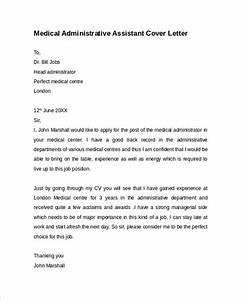 Administrative assistant cover letter 9 free samples for Cover letter for medical administrative assistant position