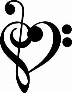 Notenschlüssel Mit Herz : wandtattoo musik noten herz f r ihr wohnzimmer musik ~ Watch28wear.com Haus und Dekorationen