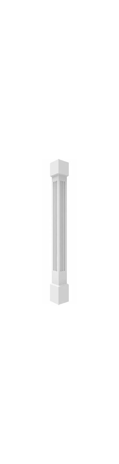 Pvc Square Columns Fluted Tapered Column Non