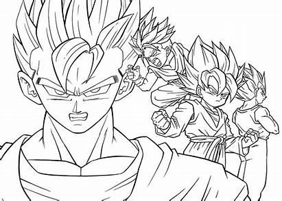 Coloring Pages Manga Anime Printable Dragon Ball