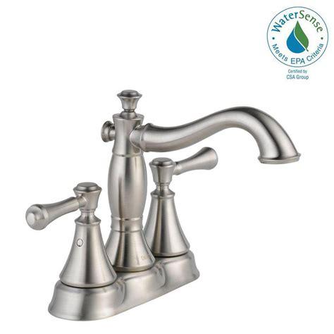 delta bathroom sink faucet installation delta cassidy 4 in centerset 2 handle bathroom faucet