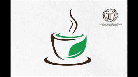 Restaurant cafe set card, flyer, menu, package, uniform design set. Health Cup Cafe Coffee Shop Logo Design Tutorial - illustrator logo design tutorial for ...