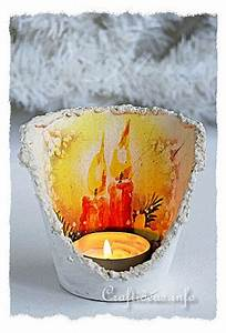 Free Christmas Craft Project Terracotta Pot Candle Holderquot