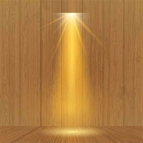 spotlight on wooden wall vector free download