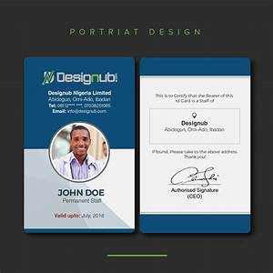 How To Do A Business Resume Two 2 Id Card Design Template Designub