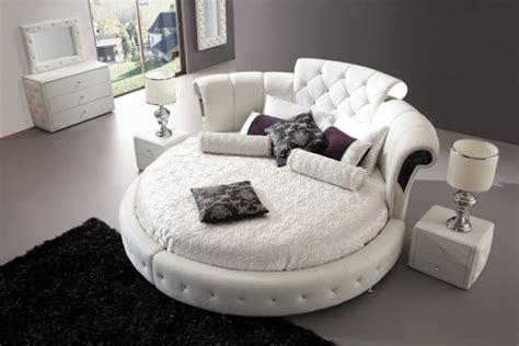 chambre lit rond mobilier design design feria
