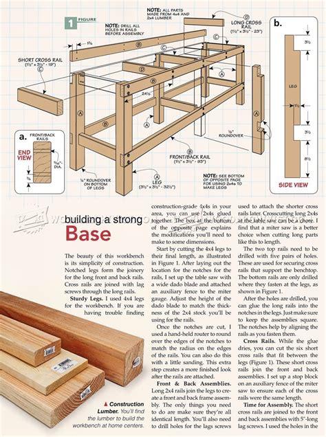 heavy duty workbench plans workshop solutions