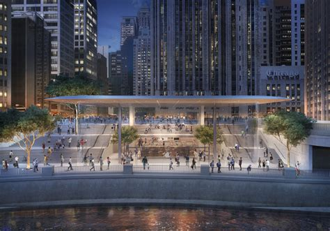 new apple store construction on chicago river chicago tribune