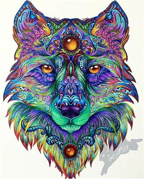 instagram art featuring page  instagram mandala wolf