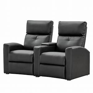 Relaxsofa 2 Sitzer : nuovoform sofa weddell 2 sitzer kunstleder schwarz relaxsofa couch lounge ebay ~ Watch28wear.com Haus und Dekorationen