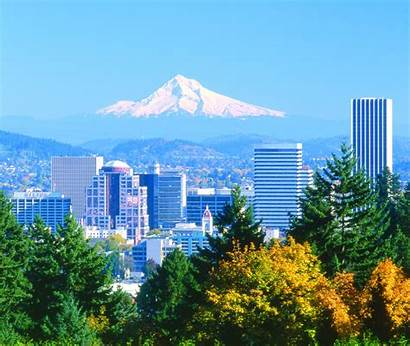 Portland Oregon Hood Mt Skyline Downtown Travel