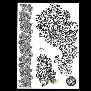 Henna Muster Schablone : 1 blatt beliebt disponsable henna tattoo sexy frauen spitzen schablone bj009a mischung bild ~ Frokenaadalensverden.com Haus und Dekorationen