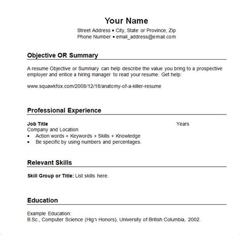 Resume Sle Templates Chronological Resume Template 23 Free Sles Exles Format Free Premium