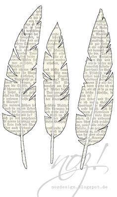 federn zum basteln federn zum ausdrucken toll buchseiten papierfedern und lesezeichen vorlage