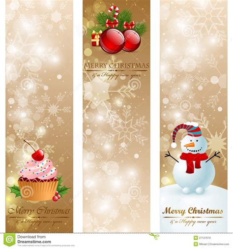 christmas vintage vertical banners royalty  stock