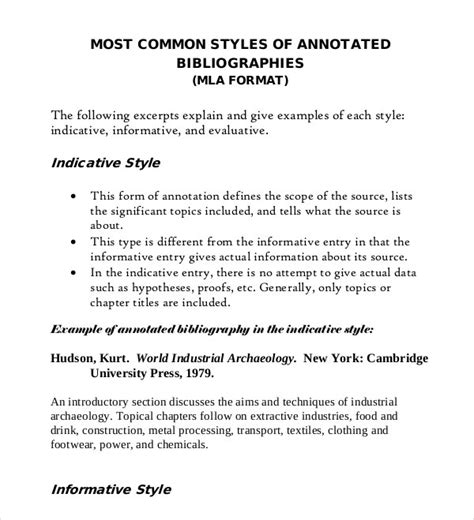 mla annotated bibliography template annotated bibliography generator template 16 exles in pdf word free premium templates