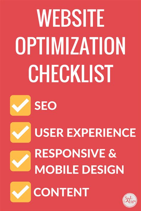 Website Optimization Company by Website Optimization Checklist And Resource Guide