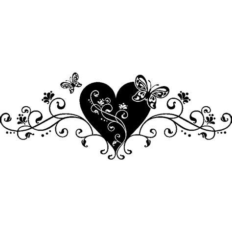 chambre deco nature sticker coeur et arabesque stickers et design