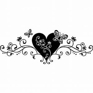 Sticker coeur et arabesque Stickers Art et Design Artistiques Ambiance sticker