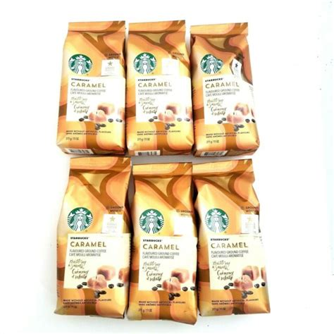 Contactless delivery and your first delivery is free! Starbucks Caramel Flavored Ground Coffee, 11 Oz (Pk of 6 ...
