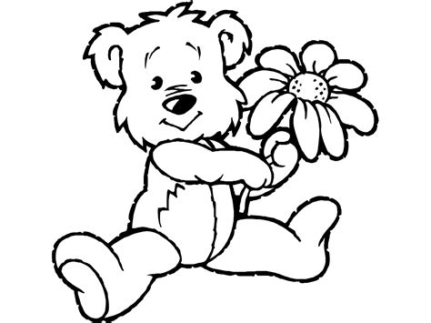 printable teddy bear coloring pages technosamrat