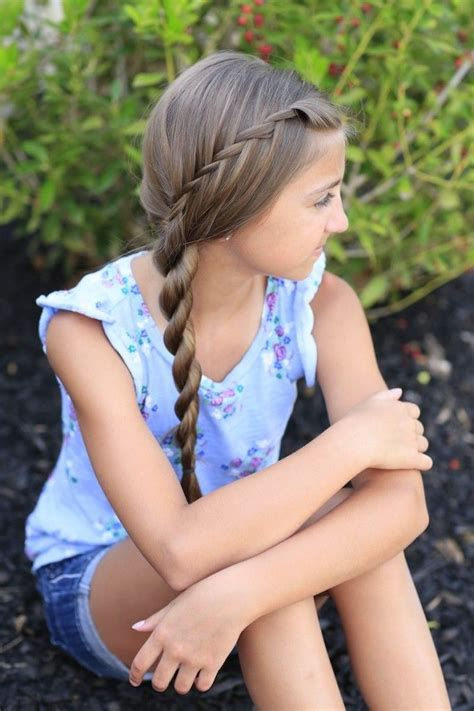 waterfall twist  rope braid cute girls hairstyles