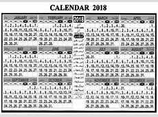 Calendar 2018 Pakistan Islamic, National Holidays, Desi