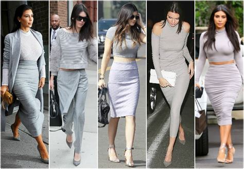 Celebrity Fashion | Kardashian Gray