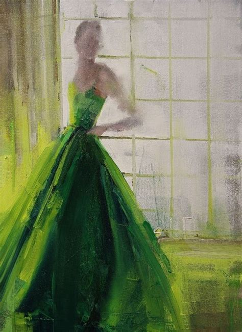 painting with green artist fanny nushka moreaux oil 2014 painting quot green taffeta 2014 quot