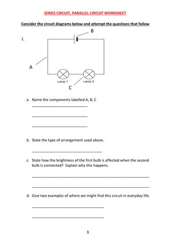 series parallel circuit worksheet answers series and parallel circuit worksheet with answers by kunletosin246 teaching resources