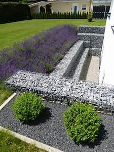 Gabionen Gartengestaltung Bilder : eine gabionen hangsicherung als lichthof gabionen kaiser ~ Eleganceandgraceweddings.com Haus und Dekorationen