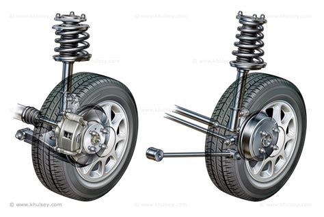 Car Suspension Stock Illustrations