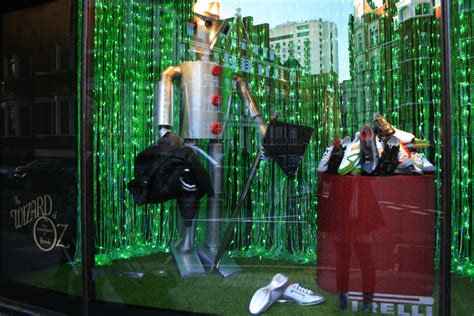 the wizard of oz comes to harrods the window display
