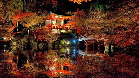 lovely japanese garden hd wallpaper